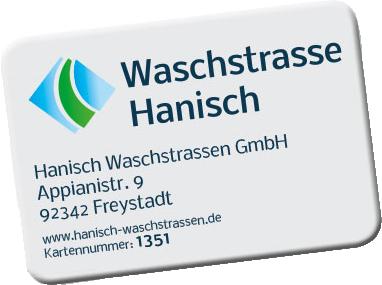 Waschstrasse Hanisch | Waschkarte
